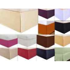 8 Inches Drop Bed Skirt Solid Brown Egyptian Cotton 1000 Thread Count